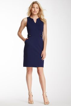 Sleeveless Ponte Shift Dress by C. Wonder on @nordstrom_rack