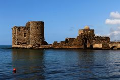 Sea castle :: Sidon, Lebanon. ••• [One of the oldest Lebanese cities.]
