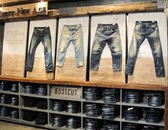 display wall denim,pinned by Ton van der Veer