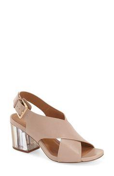 Calvin Klein 'Loni' Clear Block Heel Sandal (Women)