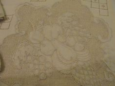 Fantastic Fruit and Sailing Boats Embroidered and Cutwork Madeira Tablecloth and Napkins - b135