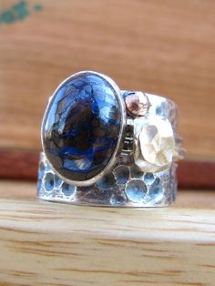 Boulder Opal Ocean Stack ring by RootsJewelry on etsy