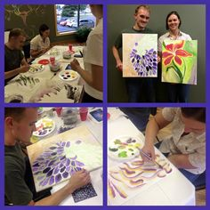 Anthony picked his own subject a chrysanthemum pretty challenging but he dove right in and got to work. Can't wait to see the finished product! Denise paint a bold day lilly:) such detail for color and shape.