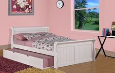 Full Sleigh Bed with Trundle