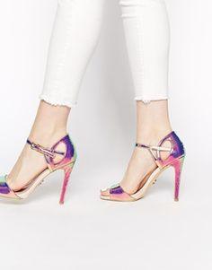 Lipsy+Charley+Iridescent+Heeled+Sandals