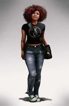 Character inspiration [Charlie by Rahzzah on deviantART] Cthulhu, Black Women Art, Black Girls, Black Art, Gangsters, Um Drink No Inferno, Character Concept, Character Art, Black Power