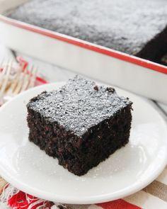 Chocolate Mayonnaise Cake-a moist crumb cake with a rich chocolate flavor! Just like Grandma used to make!