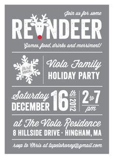 party invitations - Reindeer Games by Kerri Spath