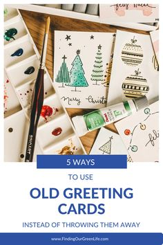 We all like getting greeting cards but many of them can't be recycled so how can you use old greeting cards? Click through to read 5 ways to use old greeting cards instead of throwing them away. Dyi Christmas Cards, Personalised Christmas Cards, Easy Christmas Crafts, Simple Christmas, Handmade Christmas, Xmas, Diy Envelope Tutorial, Santa Claus Images, Old Greeting Cards