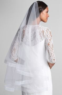 Wedding Belles New York 'Caroline' Circle Veil with Organza Trim available at #Nordstrom