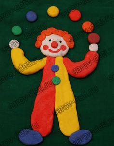 Картинки по запросу пластилиновые картины для детей клоун