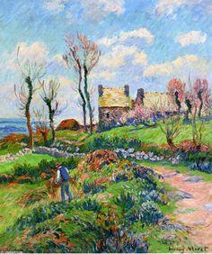 Près Audierne, huile sur toile de Henri Moret (1856-1913, France)