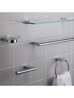 bf9c9a48cddc Buy John Lewis Oxford Bathroom Fitting Range online at John Lewis   Bathroom    Toilet roll holder chrome, Toilet roll holder, Bathroom