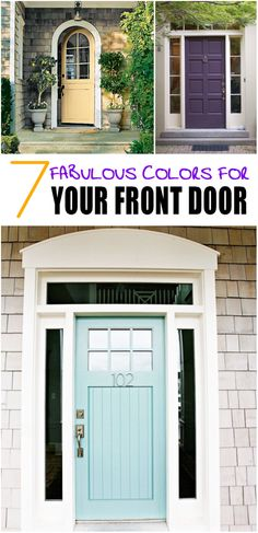 7 Fabulous Colors for Your Front Door
