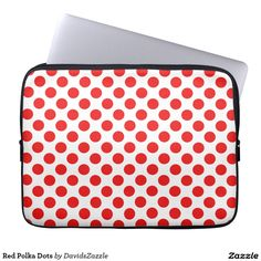 Red Polka Dots Laptop Sleeve  Available on many products! Hit the 'available on' tab near the product description to see them all! Thanks for looking!  #art #polka #dots #shop #iphone #case #phone #electronic #accessory #accessories #fashion #style #women #men #shopping #buy #sale #gift #idea #samsung #galaxy #apple #mac #ipad #tablet #computer #lifestyle #fun #sweet #cool #neat #modern #chic #laptop #sleeve #ipad #red #white