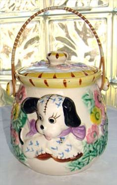 1950s Vintage Cookie Jar .