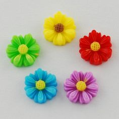 Mixed Resin Flower Cabochons from Pandahall.com