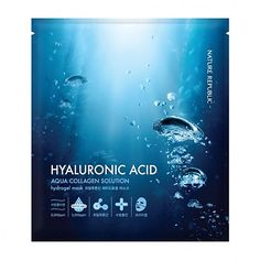 [Nature Republic] Aqua Collagen Solution Hydrogel Mask - Hyaluronic Acid Size: Products Description - Hydro gel mask with high fit and rich moisture - Marin Korean Beauty Shop, Mask Korean, Nature Republic, Gel Mask, Cosmetic Design, Hyaluronic Acid, Collagen, Packaging Design, Aqua