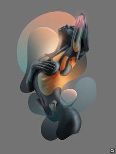 Illustration: Human Fluidity by Rik Oostenbroek x Adobe Stock Art Sculpture, Sculptures, Amoled Wallpapers, Oneplus Wallpapers, Iphone Wallpapers, Illustrator, Abstract Portrait, Erotic Art, Black Art