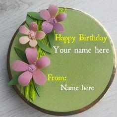 Flower Decorated Velvet Birthday Name Cake For Sister Birthday Cake For Father, Heart Birthday Cake, Birthday Wishes With Name, Cartoon Birthday Cake, Birthday Cake Greetings, Happy Birthday Wishes Cake, Beautiful Birthday Wishes, Friends Birthday Cake, Doll Birthday Cake