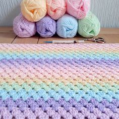 8 Rainbow Crochet Blanket Patterns for new 2019 Page 4 of 9 2019 8 Rainbow Croch. 8 Rainbow Crochet Blanket Patterns for new 2019 Page 4 of 9 2019 8 Rainbow Crochet Blanket Patterns for new croche. Easy Crochet Baby Hat, Granny Stripe Crochet, Granny Stripe Blanket, Striped Crochet Blanket, Rainbow Crochet, Crochet Afghans, Doilies Crochet, Crochet Blankets, Free Crochet