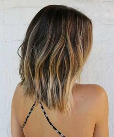 Shoulder Length Brown Blonde Ombre Ombre-Hair-Color-for
