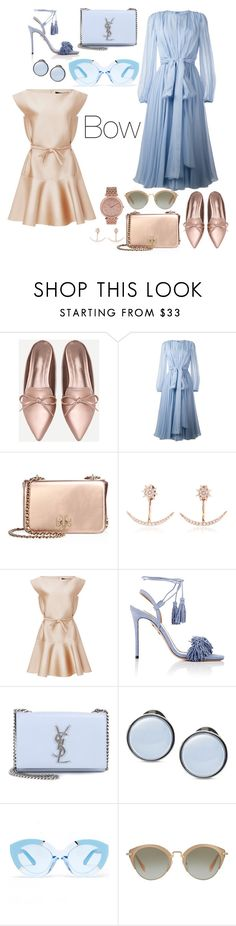 """Bow"" by gjgstyle ❤ liked on Polyvore featuring Dolce&Gabbana, Tory Burch, Bee Goddess, Paule Ka, Aquazzura, Yves Saint Laurent, Skagen, Karen Walker, Miu Miu and MICHAEL Michael Kors"