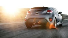 2015 VELOSTER TURBO IN MATTE GRAY WITH BODY COLOR REAR SPOILER Visit http://www.hyundaigreenvalley.com/