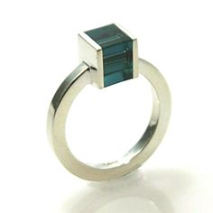Cube ring - teal by Loop Design