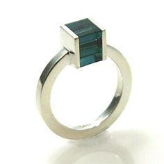 Cube ring - teal by Loop Design