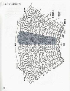 Crochet Baby Poncho, Crochet Lace Collar, Gilet Crochet, Crochet Quilt, Crochet Blouse, Crochet Chart, Crochet Doilies, Crochet Stitches, Crochet Patterns