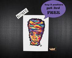 ERYKAH BADU music posters. Unique gift for music lovers. Neo soul, hip hop art, r&b poster, rap music, baduizm, wall art, soul music,