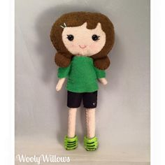 Want to play soccer? Why not play it with this sweet soccer doll!