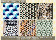 graphic interlocking, interlocking pattern, geometric pattern, fashion trend, geometric trend, tile print, mosaic print, islamic tile, moroccan tile, fashion, textiles, tessellating pattern, prada, tanya taylor, Spring/Summer 2016, Spring/Summer 2015