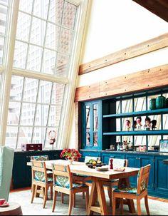 blue kitchen/glass w