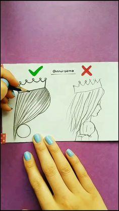 Tag your BFF ☺️💕 - nursema Tiktok Video Girl Drawing Sketches, Girly Drawings, Pretty Drawings, Art Drawings Sketches Simple, Pencil Art Drawings, Colorful Drawings, Easy Drawings, Drawing Artist, The Alien