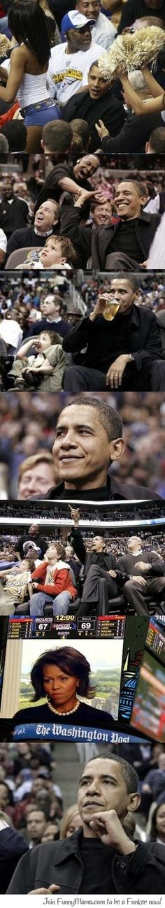 Obama At The Game