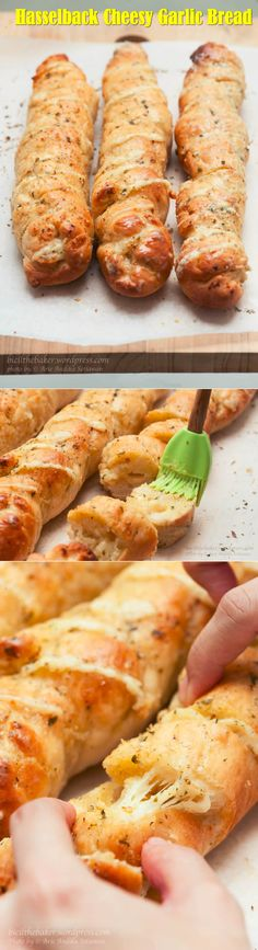 Awesome recipes of hasselback cheesy garlic bread.