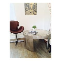 Aviator Coffee Table Aviation Furniture Smithers of Stamford £ Store UK, US, EU Aviation Furniture, Retro Furniture, Retro Coffee Tables, Round Coffee Table, Living Room Modern, Living Rooms, Urban Industrial, Reception Rooms, Home Accessories