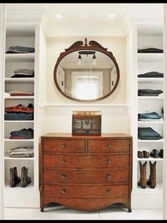 When Designing closets, consider building around a handsome dresser to add style, as well as function.   Photo: Julian Wass   thisoldhouse.com