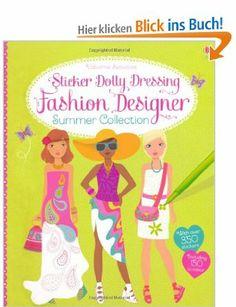 Sticker Dolly Dressing Fashion Designer Summer Collection Usborne Sticker Dolly Dressing: Amazon.de: Fiona Watt: Englische Bücher