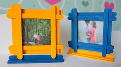 Portarretratos Infantil - DIY - Photo Frame for Childs Popsicle Stick Picture Frame, Popsicle Stick Diy, Picture Frame Crafts, Popsicle Stick Crafts, Craft Stick Crafts, Craft Ideas, Diy Arts And Crafts, Handmade Crafts, Decor Crafts