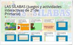 10 Juegos y actividades interactivas para el estudio de LAS SÍLABAS en 2º de Primaria Map, Interactive Activities, Spanish Language, Teaching Resources, Learning, Studio, Location Map, Maps