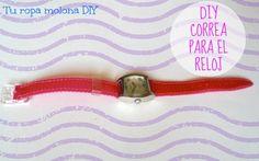 DIY: Hazte una correa para el reloj. Divertida, fácil y barata.