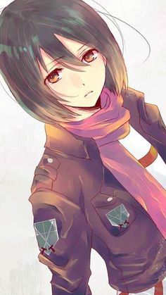 Im Mikasa Ackerman, not much to say about me, other than my distressing past and my crush I guess...