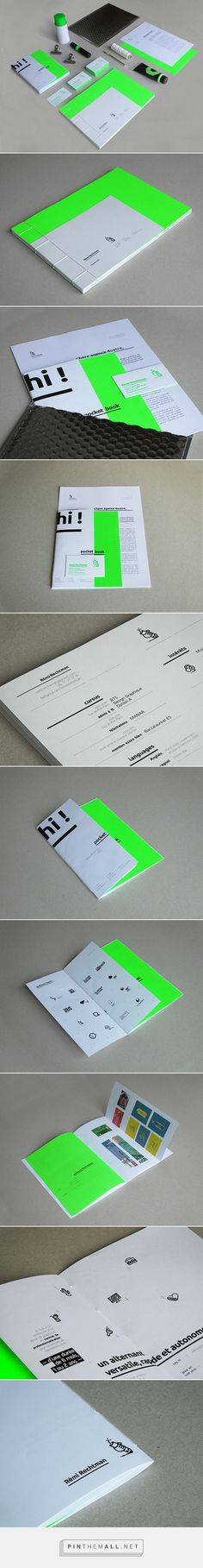 Self promotion - identity on Behance - created via https://pinthemall.net