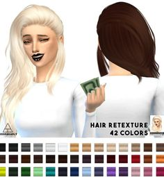 Miss Paraply: Nightcrawler 23 hairstyle retextured  - Sims 4 Hairs - http://sims4hairs.com/miss-paraply-nightcrawler-23-hairstyle-retextured/