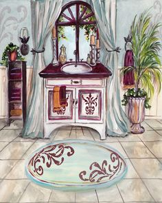 Vermillion Bath Sink (Tre Sorelle Studios)
