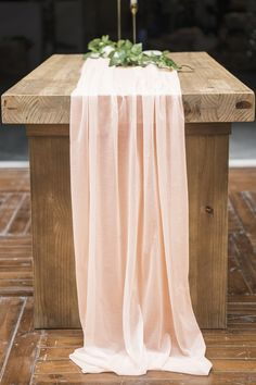 ling's moment 32 x 120 Inch Gorgeous Light Peachy Sheer Table Runner for Rustic Romantic Bohemian Wedding Bridal Shower Baby Shower Birthday Party Sweet Table Decorations Sweet Table Decorations, Bridal Shower Decorations, Reception Decorations, Bridal Shower Tables, Rustic Boho Wedding, Brunch Table, Romantic Table, Boho Baby Shower, Girl Shower