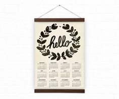 Wall calendar 2016 Home decor hello A3 A3 size 100% by DURIDO
